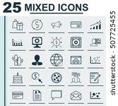 set of 25 universal editable... | Shutterstock .eps vector #507725455