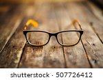 glasses  lie on the dark... | Shutterstock . vector #507726412