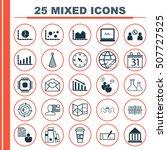 set of 25 universal editable... | Shutterstock .eps vector #507727525