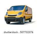 3d render  yellow delivery van... | Shutterstock . vector #507732376