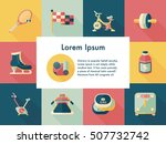 sport and fitness icons set | Shutterstock .eps vector #507732742