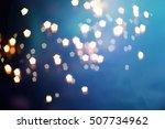 glittering shine bulbs lights...   Shutterstock . vector #507734962