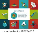 space and astronomy icons set | Shutterstock .eps vector #507736516
