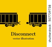 disconnect concept. train ... | Shutterstock .eps vector #507739738