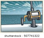 vintage deep sea fishing... | Shutterstock . vector #507741322