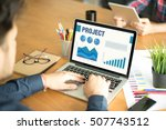 business graphs and charts... | Shutterstock . vector #507743512