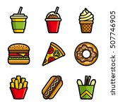 fast food vector colored icon... | Shutterstock .eps vector #507746905