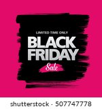black friday sale banner | Shutterstock .eps vector #507747778
