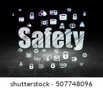 privacy concept  glowing text... | Shutterstock . vector #507748096