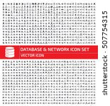 database and network icon set... | Shutterstock .eps vector #507754315