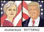 portrait of donald trump vs... | Shutterstock . vector #507758962