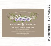 wedding invitation card... | Shutterstock .eps vector #507765112