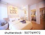 bedroom in soft light colors.... | Shutterstock . vector #507769972