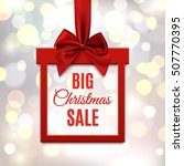 big christmas sale  square... | Shutterstock .eps vector #507770395