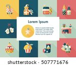 christmas and winter icons set | Shutterstock .eps vector #507771676