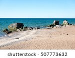 comfortable beach of the baltic ... | Shutterstock . vector #507773632