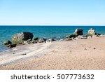 comfortable beach of the baltic ... | Shutterstock . vector #507773632