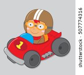 kid racer vector stock | Shutterstock .eps vector #507774316