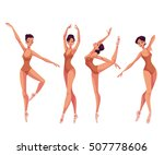 set of young beautiful dancers...   Shutterstock .eps vector #507778606