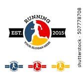 running  marathon logo design... | Shutterstock .eps vector #507778708