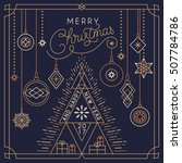 polygonal christmas and new...
