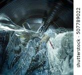 internal view of a washing... | Shutterstock . vector #507789022