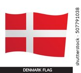 denmark flag design illustration | Shutterstock .eps vector #507791038