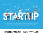 startup concept flat...   Shutterstock . vector #507794035