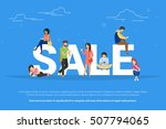 sale concept illustration of... | Shutterstock . vector #507794065