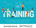 training concept illustration... | Shutterstock . vector #507794122