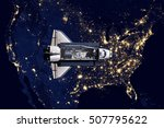 Space Shuttle And Aerial Night...