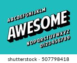 vector of retro slanted font... | Shutterstock .eps vector #507798418
