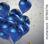 Blue Balloons And Golden...