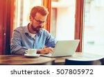 young businessman on break   Shutterstock . vector #507805972