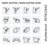 roof gutter or rain gutter for... | Shutterstock .eps vector #507812662