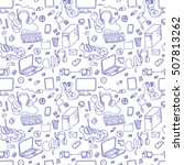 seamless pattern of hand drawn... | Shutterstock . vector #507813262