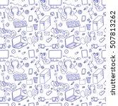 seamless pattern of hand drawn... | Shutterstock . vector #507813262