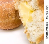 Custard Filled Donut Isolated...