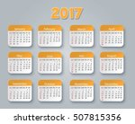 accurate calendar for 2017 | Shutterstock .eps vector #507815356