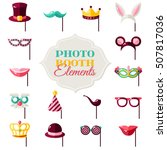 photo booth elements isolated... | Shutterstock .eps vector #507817036