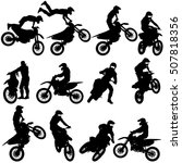 set of biker motocross... | Shutterstock .eps vector #507818356