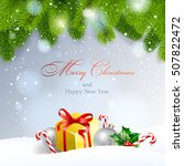 christmas background. vector ... | Shutterstock .eps vector #507822472