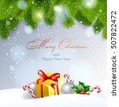 christmas background. vector ... | Shutterstock .eps vector #507822472