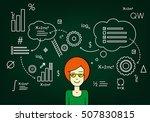 student smart  graduate ... | Shutterstock .eps vector #507830815