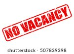no vacancy red stamp text on... | Shutterstock .eps vector #507839398