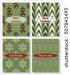 set of  christmas abstract... | Shutterstock .eps vector #507841495