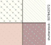 ethnic seamless pattern set | Shutterstock .eps vector #507842572