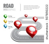 road map with map pointer for... | Shutterstock .eps vector #507850222