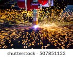 cnc laser plasma cutting of... | Shutterstock . vector #507851122
