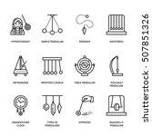 Vector Line Icon Of Pendulum...